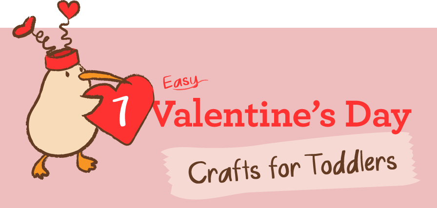 7 Easy Valentine S Day Crafts For Toddlers Kiwico