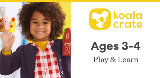 Play and learn with Koala Crate for ages 3 to 4