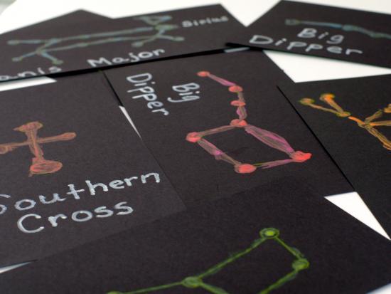 Glow In The Dark Constellation Cards
