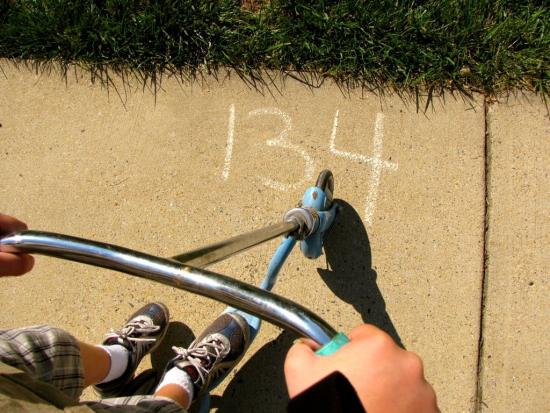 idewalk Chalk Mental Math Game