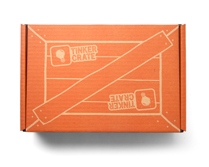 Example of a Tinker Crate monthly STEM box from KiwiCo