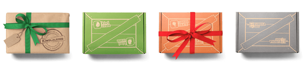 Four KiwiCo group gift boxes